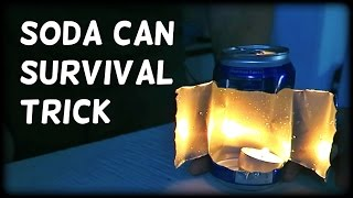 Easy Soda Can Survival Trick