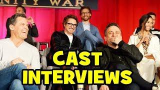 AVENGERS INFINITY WAR Press Conference - Robert Downey Jr, Chris Hemsworth, Benedict Cumberbatch
