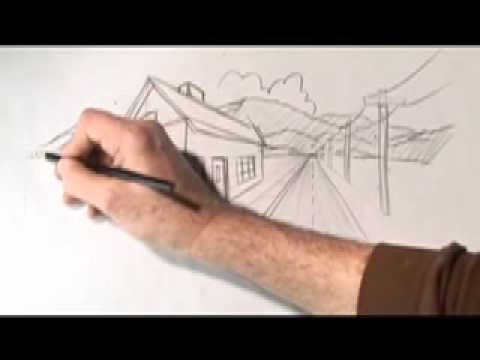 How To Draw One and Two Point Perspective with Karl Gude
