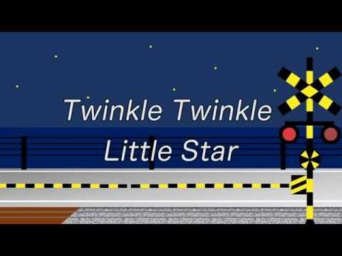 Twinkle Twinkle Little Star | キラキラ星(英語)| 踏切電車アニメ