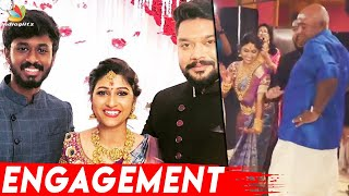 MS Baskar dances at Daughter Ishwarya's Engagement Function | Tamil Celebrity Marriage Celebration