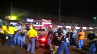 Late Model Dispute at Dixie speedway