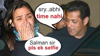 Salman Khan IGNORES His Crying Female Fan BEGGING For A Selfie