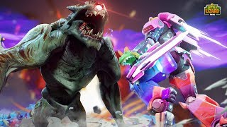 The ROBOT VS THE MONSTER! *THE FIGHT*