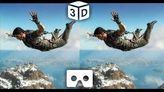 Best VR Sky Diving 3D VIDEO HD | Google Cardboard VR Box Video 3D SBS HD 1080p