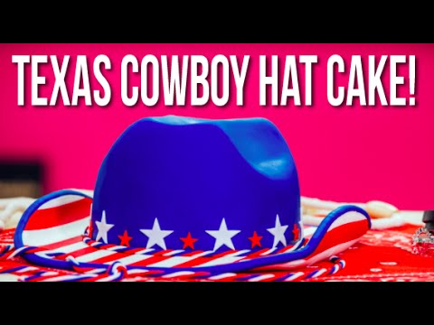 How To Make A Texas COWBOY HAT CAKE Americana Stars & Stripes Made With Vanilla Cake