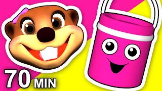 """""""The Paint is Pink"""" Plus More   Kids 3D Animation   Colors Learning Compilation   Teach Baby Colours"""
