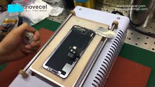 How To Replace iPhone X Broken Front Glass With Q5 Laminator   Detailed Explanation