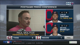 Twins manager Molitor on decision to send Berrios back out in the 8th