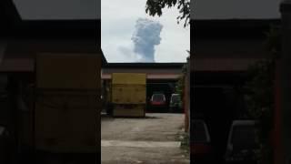 Erupsi gunung sinabung 24 oktober 2016