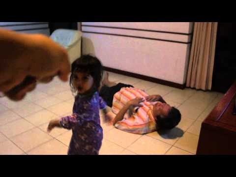 Two-year-old girl  vs 62-year-old Grandpa
