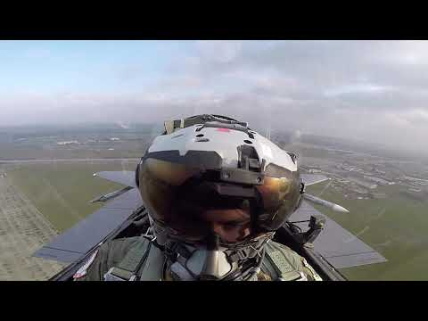 First footage of debut RAF F 35 exercise from F 15E cockpit featuring Rafale Cs
