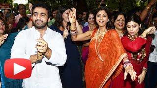 (VIDEO) Shilpa Shetty DANCE At Ganpati Visarjan 2014 - Shilpa Shetty Ganesh Chaturthi 2014