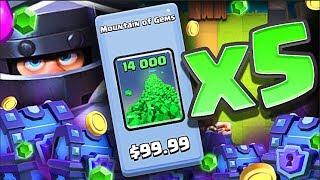 "GEMMING ""Mega Knight"" 70,000 GEMS!! • MAX Mega Knight in Clash Royale !?"