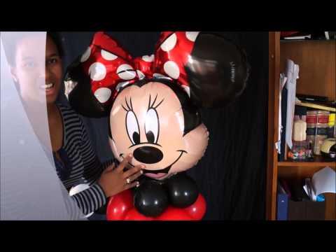minnie mouse en globo