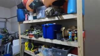 Wood Storage Shelves In Garage
