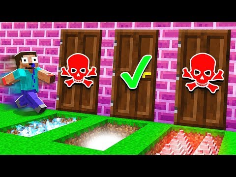 DO NOT CHOOSE THE WRONG DOOR IN MINECRAFT