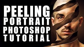 How to create head peel in Photoshop - Photo manipulation tutorial - Photoshop tutorial