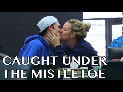 Kissing Under The Mistletoe Prank