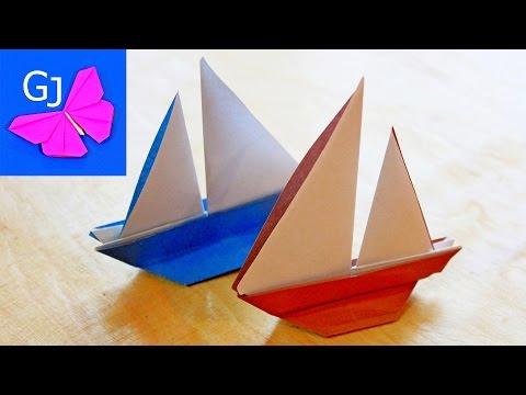 лодка из бумаги своими руками оригами