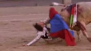 Matador Gored By Bull Through The Neck And Throat