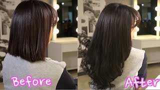 Korean Clip in Hair Extensions: Blending with short hair