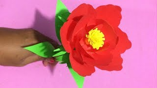 How to Make Flower with Paper | Making Paper Flowers Step by Step | DIY-Paper Crafts
