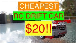 RC Drift Car CHEAPEST 1:24 SCALE $20 REVIEW