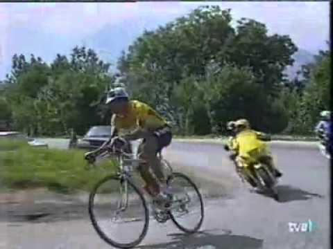 Miguel Induraín Tour 1995-Subida a la Plagne-RITMO BESTIAL-Miguel no tiene rival