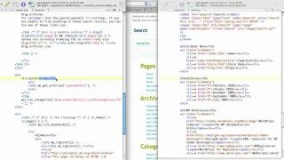 WordPress Tutorial: Customizing Sidebar 2/3 [HTML 2 WordPress]