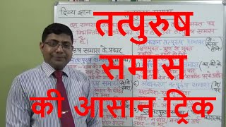 Samas (समास ) तत्पुरुष/HINDI GRAMMAR तत्पुरुष समास पहचानने की आसान ट्रिक /SAMAS PART - 2