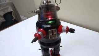 50s NOMURA TIN BATTERY/OP MECHANIZED ROBBY ROBOT ORIGINAL TN WORKS
