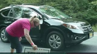 Trump Campaign Sign Thieves Caught on Camera Help Catch! - Dingmans Ferry PA