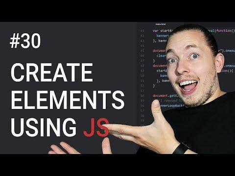 30 Create New Content Using JavaScript Document Object Model Tutorial JavaScript Tutorial