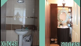 BANYO DEĞİŞİMİ ( Small Bathroom Makeover)