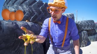 Learn Verbs with Blippi |  Educational Digger Videos for Kids