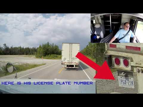 Bad Semi Driver on the Road TRUCKER RUDI 08/12/17 Vlog#1158
