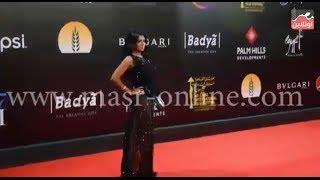 رانيا يوسف بفستان عاري بمهرجان القاهرة السينمائي