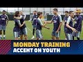 Download Video Download Accent on youth on Monday with Barça B players heavily involved in training 3GP MP4 FLV
