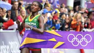 Ethiopian Golden Girl Tiki Gelana won the London 2012 Women's Marathon