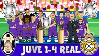 JUVE 1-4 REAL MADRID! Real Duodecima! Real win the Champions League! (Parody Goals & Highlights)