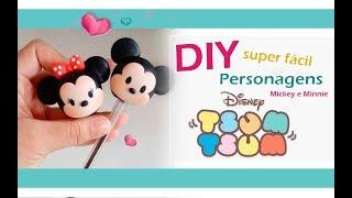 DIY  - Ponteiras Disney tsum tsum Mickey e Minnie