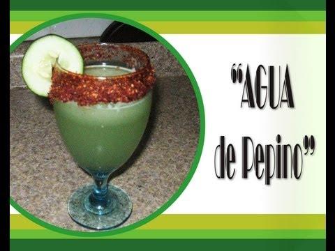 Receta Fácil Agua de pepino Cucumber Water yummy