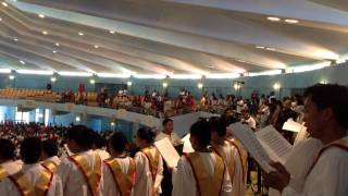 Gloria in Excelsis Deo ( Gregorian Chant ) - Holy Rosary Grand Choir, Doha Qatar