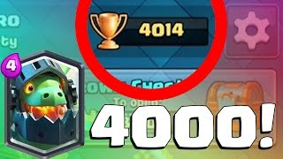 WORST PLAYER EVER GETS TO 4000 TROPHIES | Clash Royale