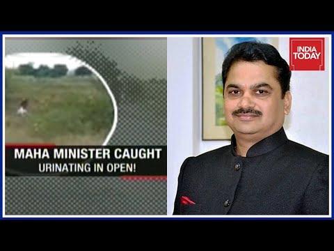 Maharashtra's Water Conservation Minister Pissing On Roadside