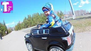 Развлечения для детей ЭЛЕКТРОМОБИЛЬ Детский ВЛОГ Озеро БАННОЕ Катаемся на горках #Автомобили