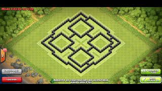 clash of clans layout de guerra cv 7 war base town hall 7