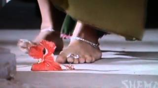 a flower being trampled under the feet of hot indian actress VIDYA BALAN