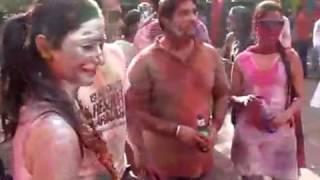Silver Putai of Bhabhi at Delhi Holi Party